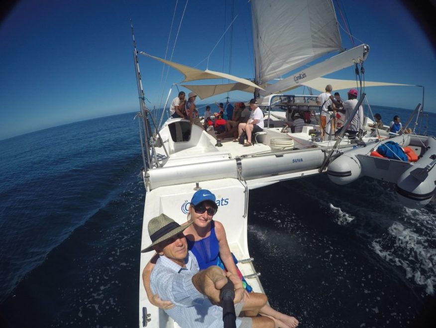 Coral Cats Full Day Sailing Trip with snorkelling at the sand bar & lunch at Musket Cove Resort
