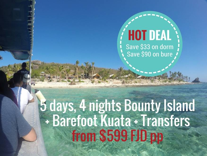 5 days, 4 nights Beachcomber Island + Barefoot Kuata, includes Yasawa Flyer Boat Transfers - DISCOUNTED